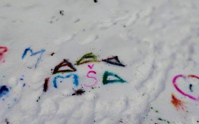 Maľovanie na snehu
